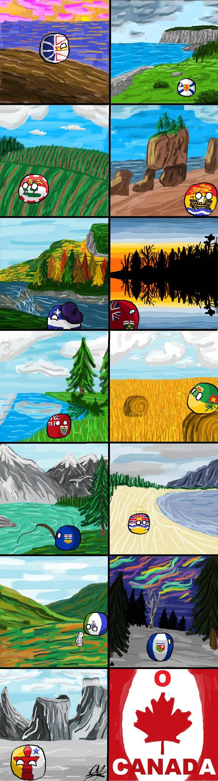 "Journey part I  ""A Journey Across Canada"" by  Pan Aaron #polandball #countryball"