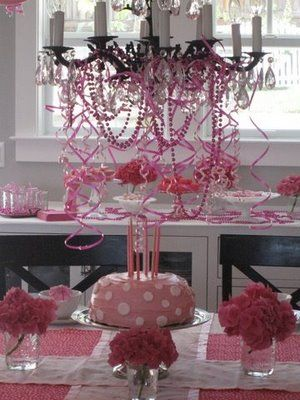 Cute, cute, cute table.  I am starting to see that upcoming Minnie Mouse party theme!