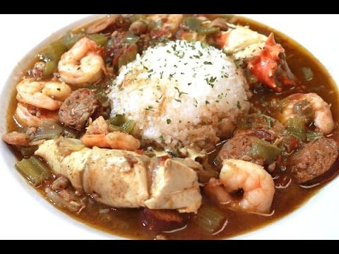 Seafood, Chicken, and Andouille Sausage Gumbo | I Heart Recipes