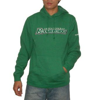 CFL Saskatchewan Roughriders Mens Athletic Warm Pullover Hoodie / Sweatshirt Jacket with Embroidered Logo - Green (Size: S) CFL. $39.99