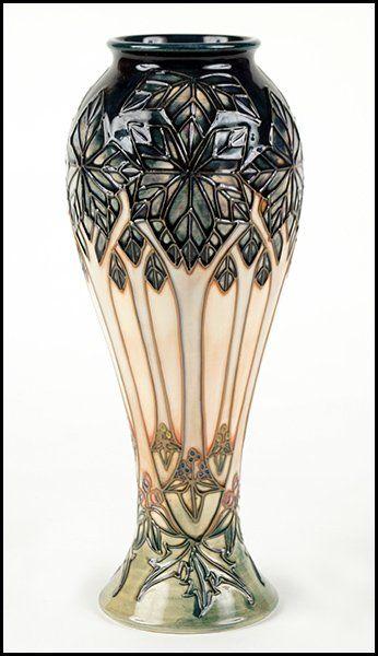 A Moorcroft Pottery 'Cluny' Pattern Vase : Lot 132-2043
