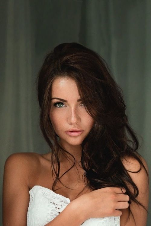Brunette With Green Eyes