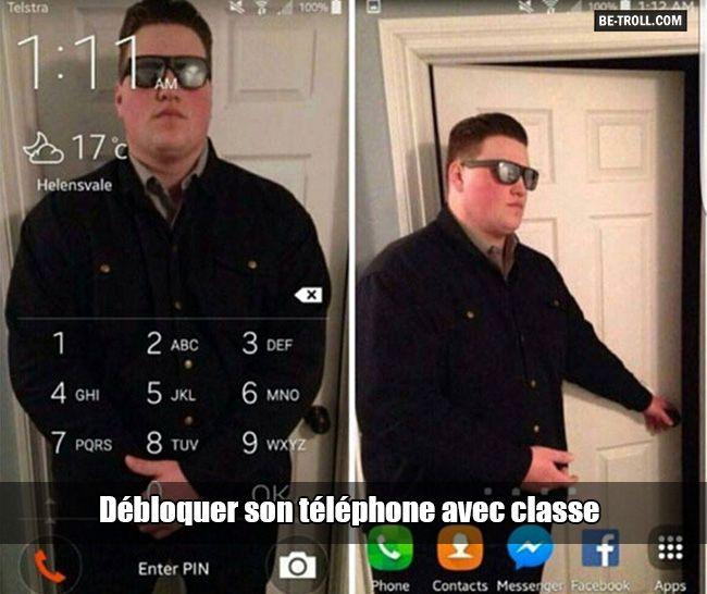 Débloquer son téléphone avec classe... - Be-troll - vidéos humour, actualité insolite