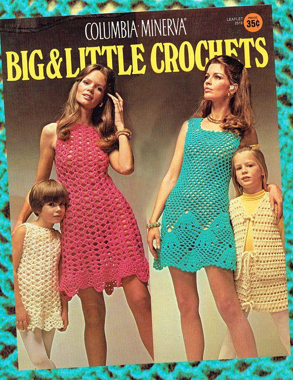 Original Vintage 1970s Crochet Pattern Columbia Minerva