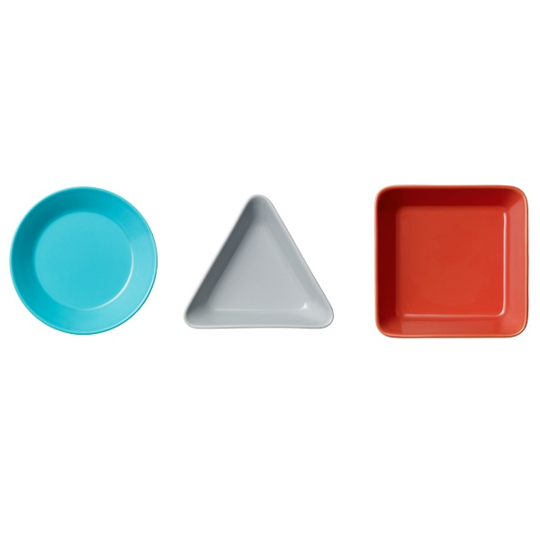 Teema range and it shows Kaj Franck's basic forms – a circle, a square and a triangle – in a modern way.