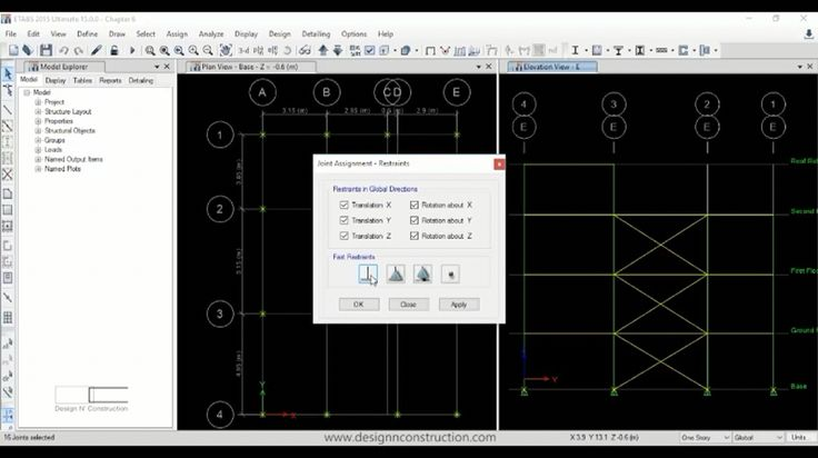 Etabs 2015 Three Story Steel Frame Chapter 7 Tutorial. Watch the video on Design N' Construction Youtube Channel (Link in Profile) #etabs#2015#etabs2015#Three#Story#frame#chapter#7#tutorial#youtube#video#design#n#and#construction#designnconstruction#assignment#restraint#release#torsion#moment#end#length#offset#rigid#zone#factor#output#station#diaphragm