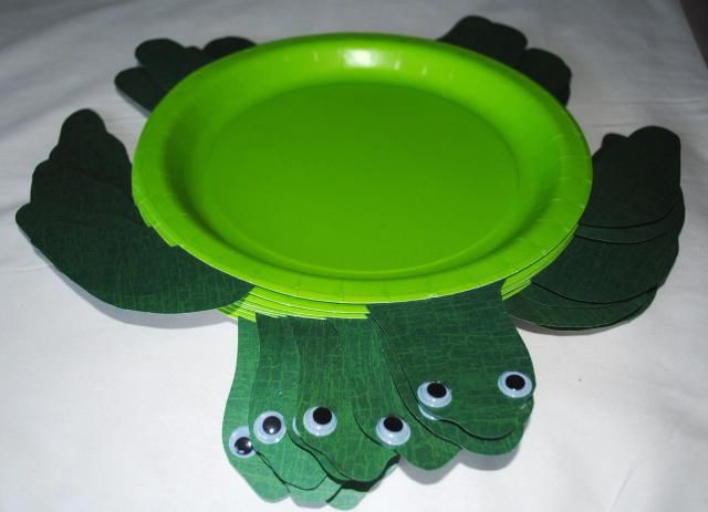 Turtle plates for Jaxsons under the sea birthday party