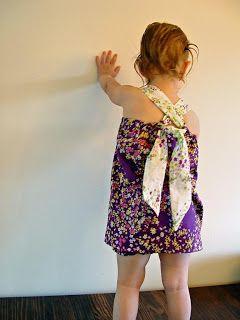 THE SEWING DORK: Pattern Free Tie Back Halter Top