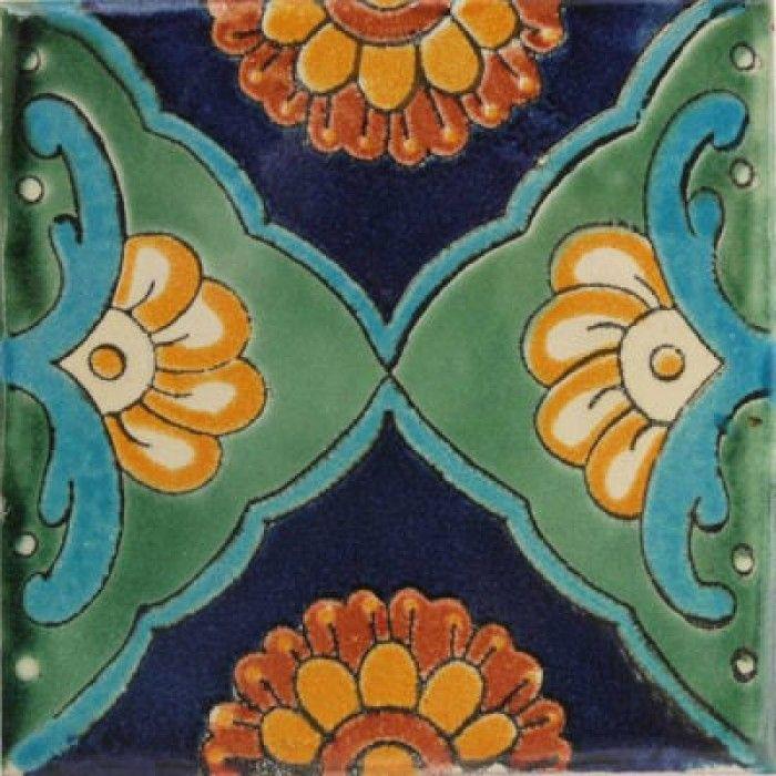 Green Sea Talavera Mexican Tile