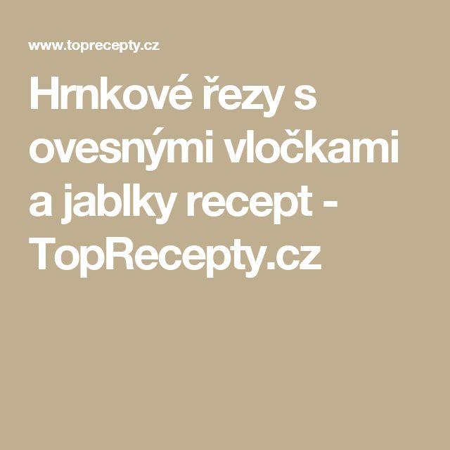 Hrnkové řezy s ovesnými vločkami a jablky recept - TopRecepty.cz