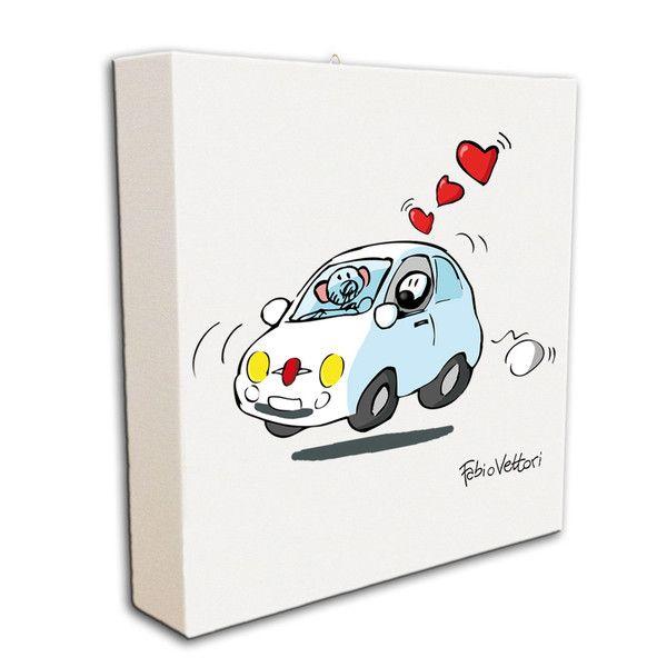 """Tela artistica """"500"""". #formiche #quadro #tela #car #auto #fiat"""