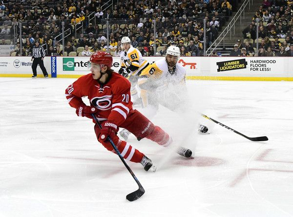 Sebastian Aho Photos Photos - Sebastian Aho #20 of the Carolina Hurricanes skates on the ice against the Pittsburgh Penguins at PPG PAINTS Arena on December 28, 2016 in Pittsburgh, Pennsylvania. - Carolina Hurricanes v Pittsburgh Penguins