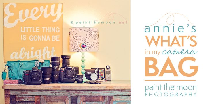 What's In My Camera Bag? | Annie Manning, Paint the Moon Photography and Photoshop Actions