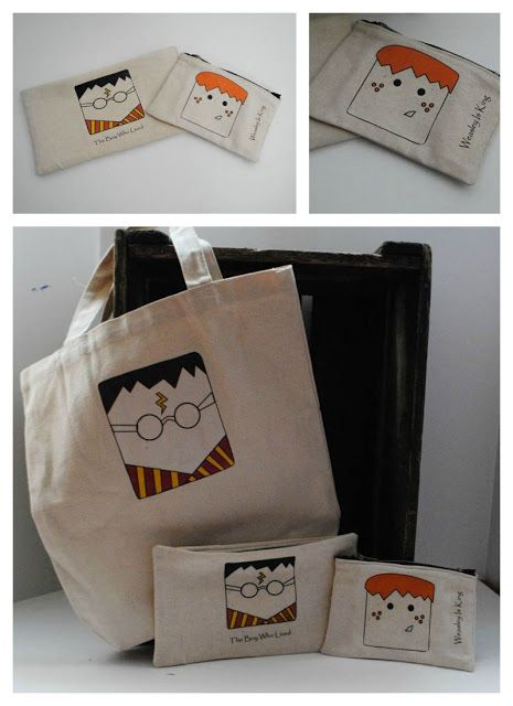 DIY Harry Potter Zipper Pouches