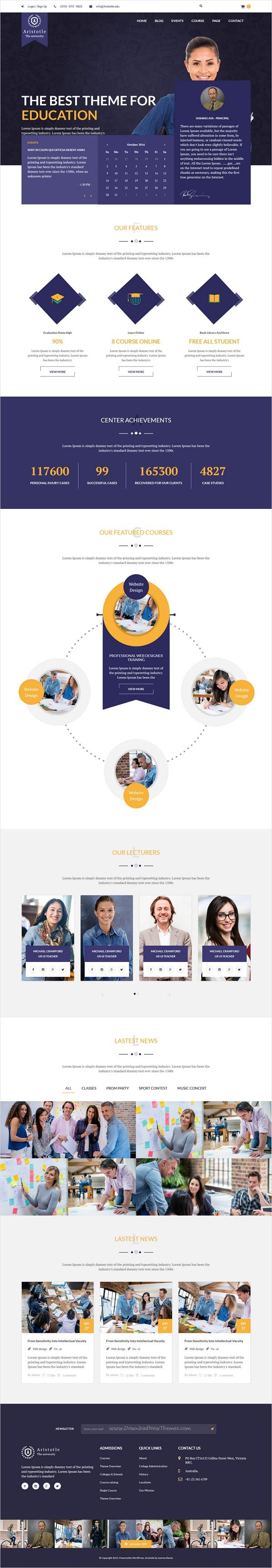 Aristotle is perfect 4 in 1 #bootstrap HTML #template for #Courses, Online #Tutors, College, University, School, Academy, Online LMS and all other Educational Institutions websites download now➩ https://themeforest.net/item/aristotle-education-html-template/17437662?ref=Datasata