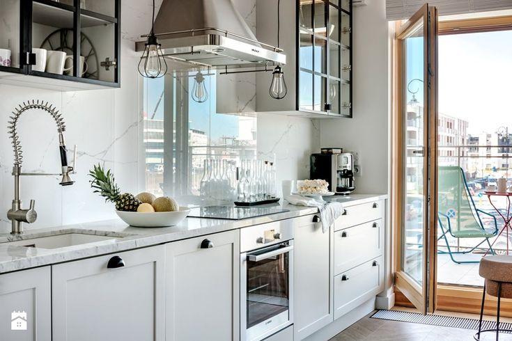 WILANÓW - Średnia otwarta kuchnia jednorzędowa, styl industrialny - zdjęcie od PINKMARTINI