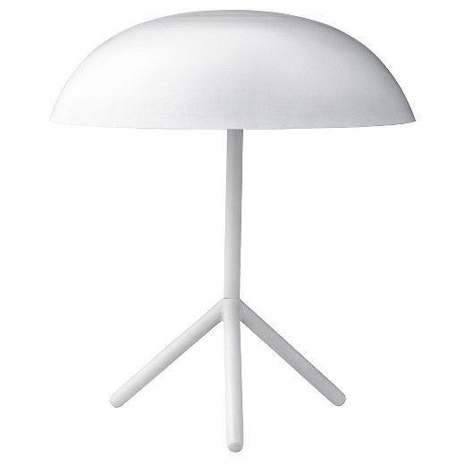 "Metal Tripod Table Lamp White 13-3/4"" Round x 15-3/4""H (25 Watt Bulb) - 3R Studios : Target"
