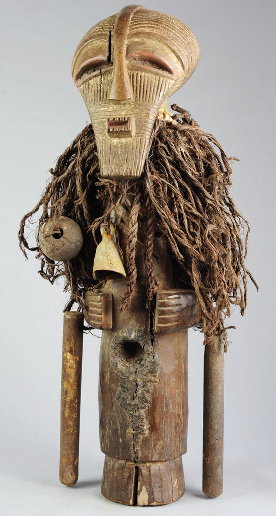 Superbe fétiche SONGYE KIFWEBE NKISHI Congo Fetish MC0550 African Tribal Art Africain Statue sculpture