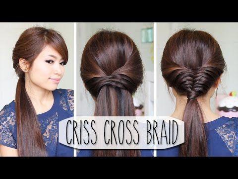 Criss Cross Braid Hair Tutorial (French Fishtail Cheat) Easy Hairstyles - YouTubeBraid Hairstyles, Braids, braids tutorial, braids for short hair, braids for short hair tutorial, braids for long hair, braids for long hair tutorials...