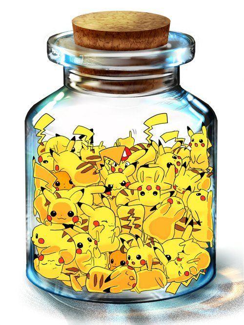 Plusieurs Pikachu dans une fiolle :)