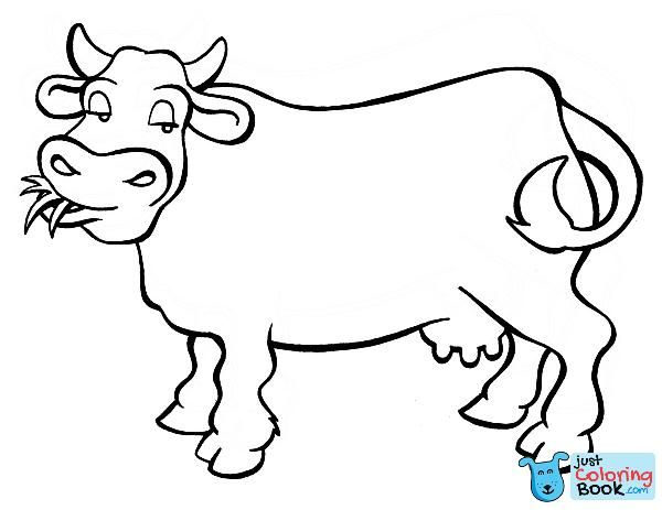 Printable Cow Coloring Pages Coloringme In Grazing Cow Coloring Pages For Free Cow Coloring Pages Coloring Pages Toddler Coloring Book