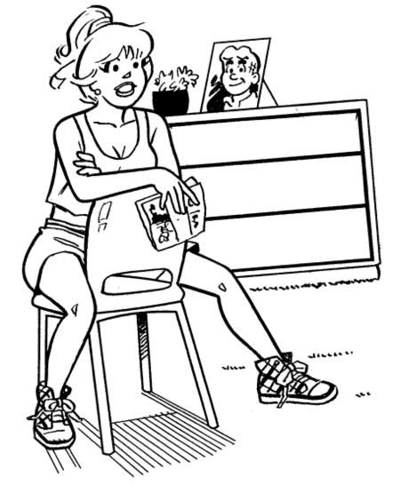 betty and veronica coloring pages - photo#37