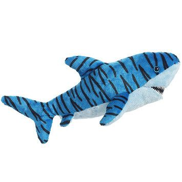Blue Stuffed Tiger Shark - Set Of 2