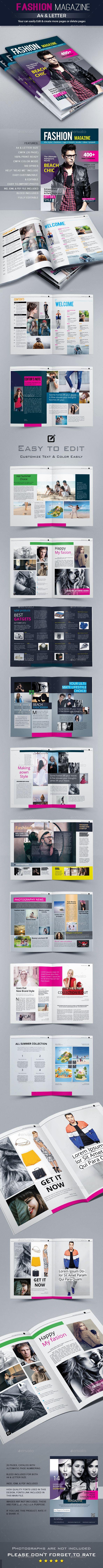 Fashion Magazine Layout TemplatePrint 1055 best