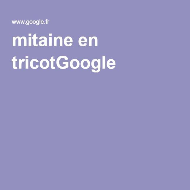 mitaine en tricotGoogle