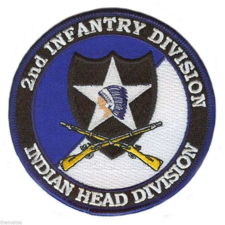 ARMY 2ND INFANTRY INDIAN HEAD DIVISION CROSSED RIFLES 4