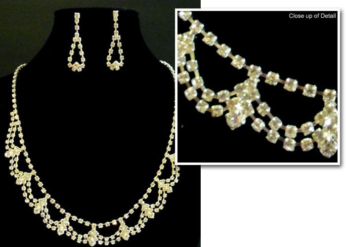 Bridal Necklace and Earring Set
