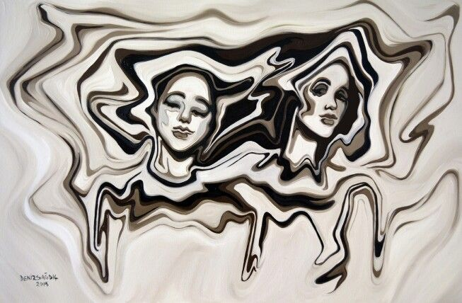 Tuval üzerine yağlı boya ( oil on canvas ) 80x120 cm, twins