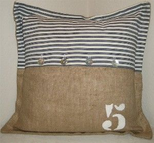 Crafts~~Burlap / burlap and ticking.....this would be cute in my childrens patriotic bedroom by Subjects Chosen at Random