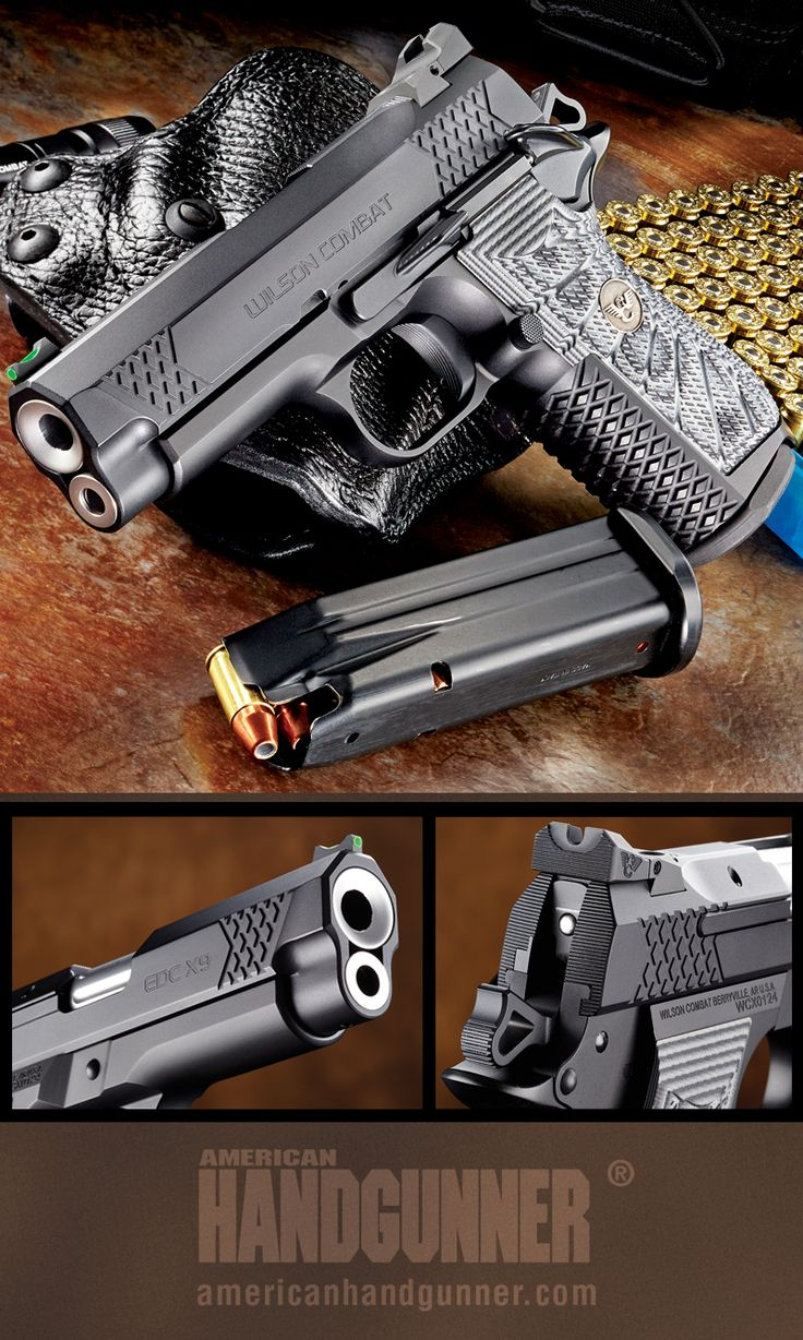 Wilson Combat's EDC X9 | By Massad Ayoob | Quality Doesn't Come Cheap | It ain't cheap, but it is nice! The 9mm EDC X9 from Wilson Combat takes the 1911 design and tweaks it for everyday carry. | © American Handgunner 2018
