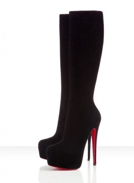 Christian Louboutin suede 6inch heel - I need these - not sure I could walk in them but still lol