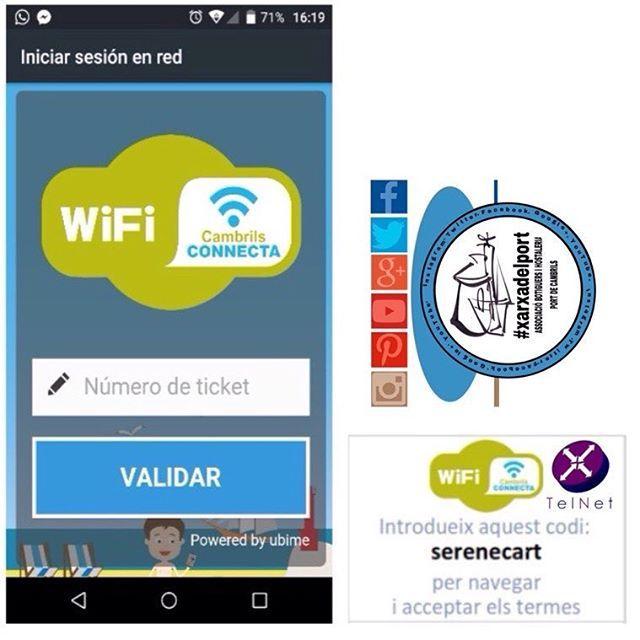 """La nova #connexió wi-fi funciona de moment a #Cambrils, a través de les #botigues i #hostaleria de la #xarxadelport que hi vulguin participar, les quals estan #identificades amb els #logos de la pròpia #xarxa i els adhesius de #wiffi de color verd al #PortDeCambrils Aquests establiments son els encarregats de repartir  els tickets de 30"""" gratuïts amb la clau d'accés  a la xarxa.  En total s'han instal·lat 60 antenes entre la zona de La Llosa i el Pi rodó, al passeig marítim.  En la seva…"""