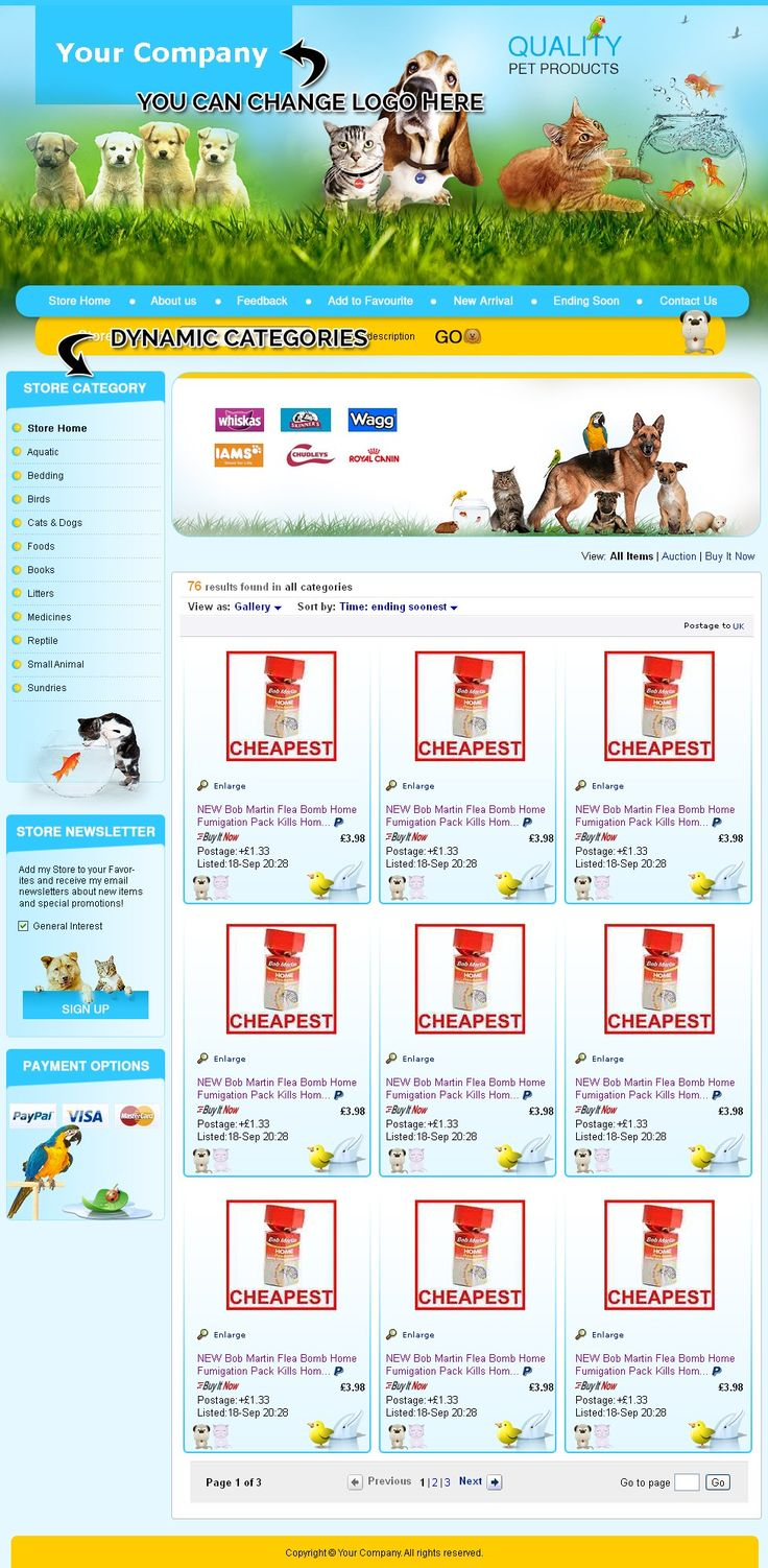 20 best animal pet theme professional ebay store auction pet animal ebay shop templates 3999 start selling today ebay listing html templates pronofoot35fo Image collections