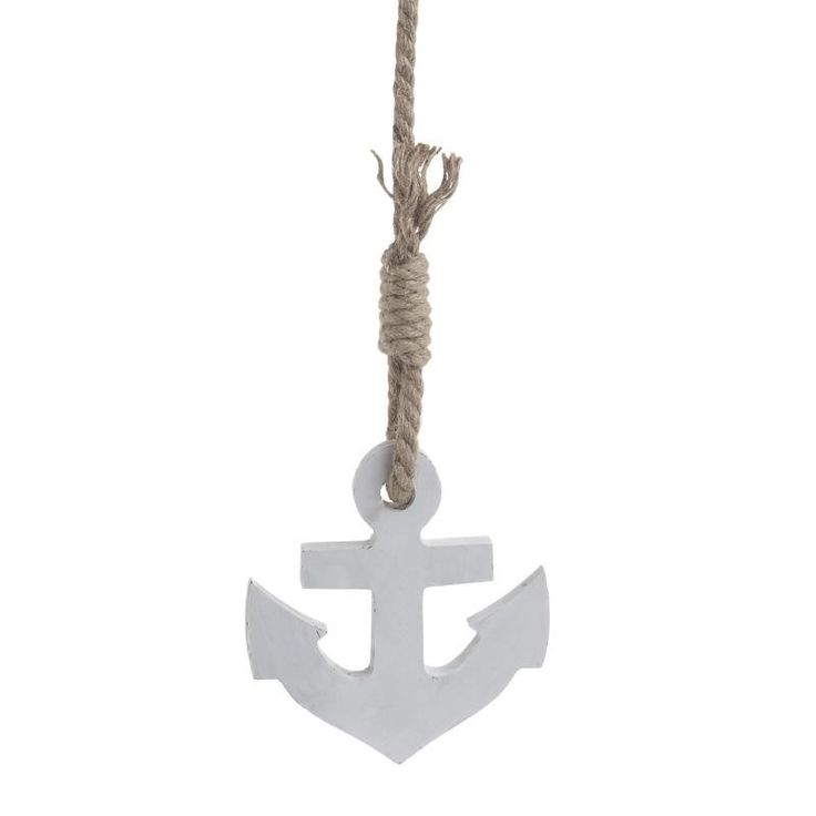 WOODEN WALL DECORATION ANCHOR 12X2X80 - Metallic - Minatures - DECORATIONS - inart