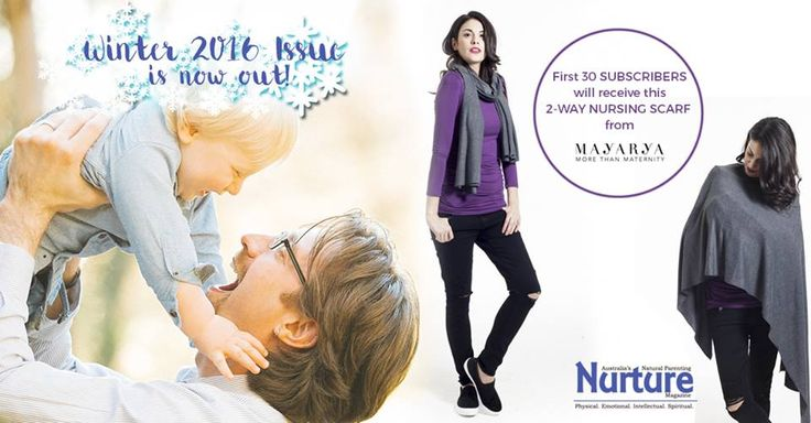 Subscribe today and be one of the lucky winners to receive this 2-Way Nursing Scarf from Mayarya! http://www.nurtureparentingmagazine.com.au/subscribe/