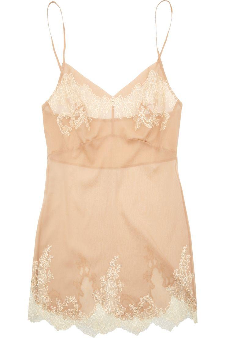 Carine Gilson Thme Egrie stretch silk-chiffon camisole - Definitely in Tess…