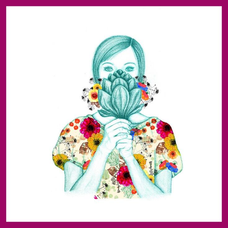 www.julianaveiga.com #illustration #scandinavian #textiles #textiledesign #drawing #flower #julianaveiga #textileprint