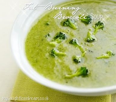 This flavorful broccoli soup will fill you up quickly and help you burn more calories throughout the day.