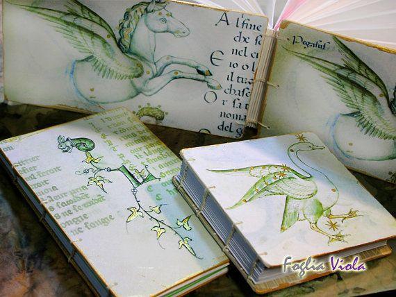 Medieval Journal Pegasus Constellation Cygnus Bunny Shell