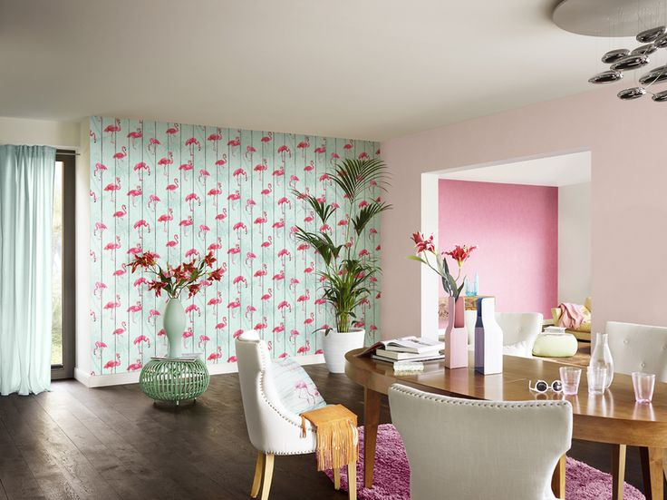 B b home passion v flamingo wallpaper by rasch for Tapeten katalog bestellen