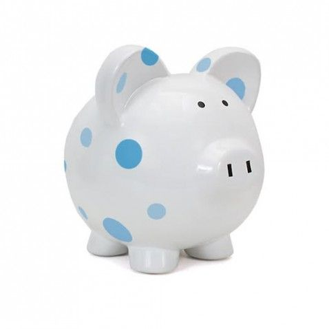 With multiple colors to choose from, there's a Personalized Polka Dot Piggy Bank for everyone! The adorable, hand-painted design is perfect for a nursery, baby shower, birthday and every occasion in between.
