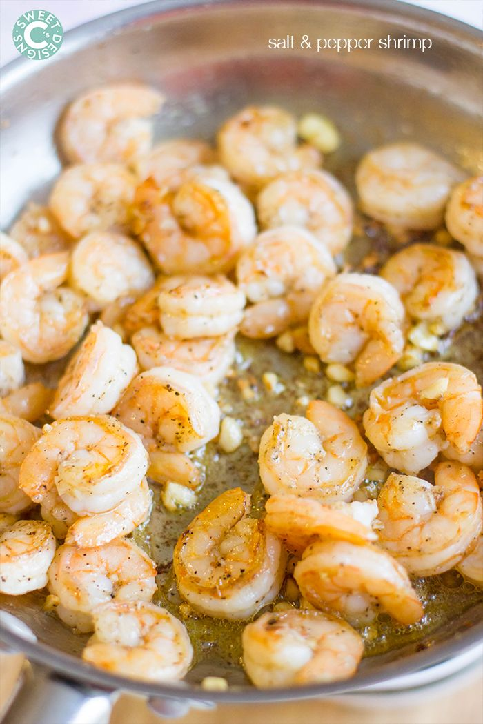 the tastiest quickest way to make shrimp- this salt and pepper shrimp recipe is always our favorite!