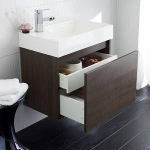 Hudson Reed Meuble sous lavabo de salle de bains suspendu 600x550x380mm Enzo