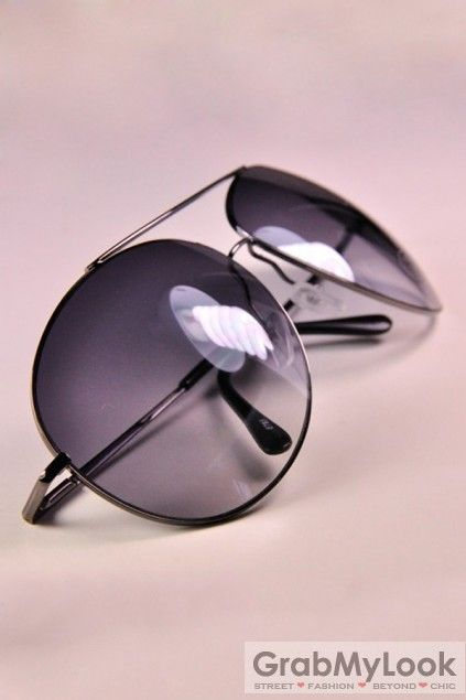 GrabMyLook Classic Aviator Pilot Metal Frames Sunglasses Eyewear