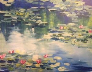 """Impressionist Monet Water Lilies"" with step by step in the link."