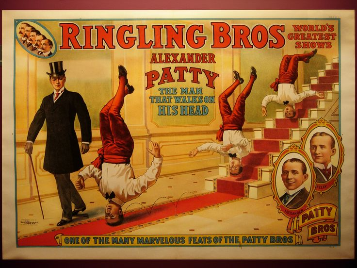 Patty On Head, Ringling Bros, circus, poster